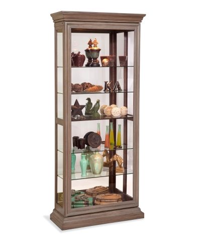 58353 DESTINY II TWO WAY SLIDING DOOR CURIO CABINET