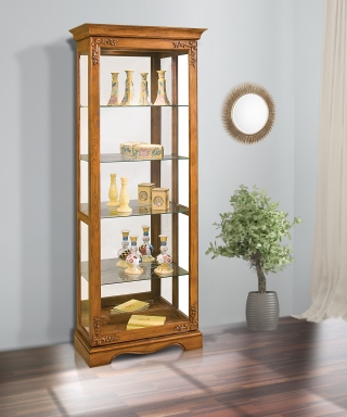 62151 ANDANTE II TWO-WAY SLIDING DOOR CURIO CABINET
