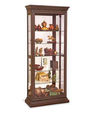58339 DESTINY TWO WAY SLIDING DOOR CURIO CABINET
