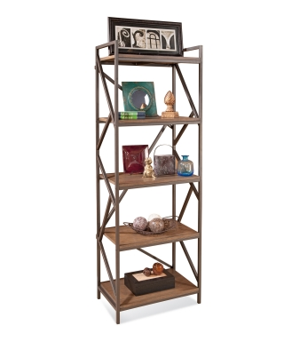 95395 INDUSTRIAL WOOD & IRON DISPLAY PIER