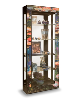 25393 WATER LILLIES ACCENT CABINET